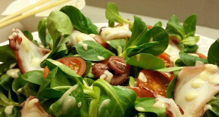 Receta: Ensalada de Pulpo con Salsa de Mostaza y Miel